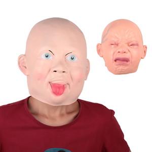 Sonrisa Cry Baby cabeza de la cara de látex máscara del horror Scary Halloween Party cosplay para adultos