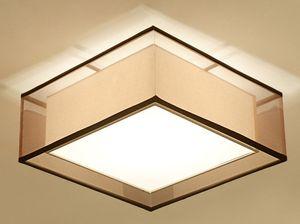 American Rural Nordic new modern new Ceiling Lights dormitorio dormitorio sala estudio lino tejido LED LLFA