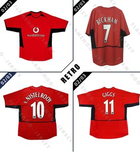 2002 2003 Manchester Retro soccer jerseys home away BECKHAM V.NISTELROOY GIGGS 02 03 united classic football shirt