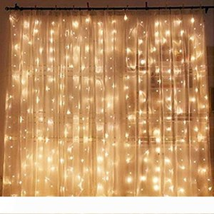300cm led window curtain icicle lights 300 led window curtain string light wedding party for Christmas Halloween Home Garden Bedroom Outdoor