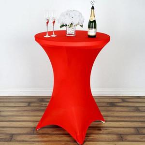 الجملة مفرش حجم 60 * 110CM دنة كوكتيل الإمتداد الغلاف المائدة المستديرة مفرش لحفل زفاف وليمة الديكور