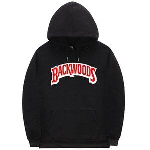 La filettatura della vite bracciale con cappuccio Streetwear Backwoods Felpa con cappuccio uomini di Hip Hop autunno inverno pullover con cappuccio