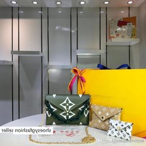 bolsas bolsas LUIS Pochette Kirigami Set Três Envelope verde Clutch monograma gigante bolsa das mulheres