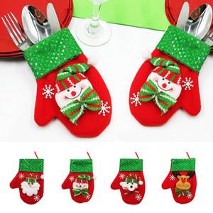 Weihnachtsdekoration Weihnachtspuppe Pailletten Brushed Handschuhe Süßigkeit Besteckset Geschenk-Beutel