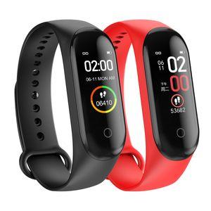 2020 Sport Running Pedometer M4 Smart Wristband Heart Rate Waterproof Touch Screen Bluetooth Fitness Tracker Pedometer PK M3 ID 115 PLUS
