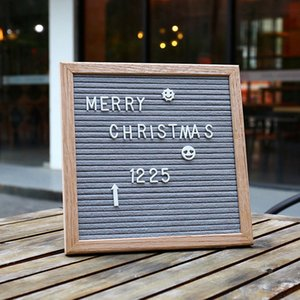 Hot Beautiful Felt Letter Board Wooden Frame Changeable mark Numbers Characters Message Boards for Home Office signs
