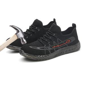 Herren Sicherheitsschuhe Stahlkappe Arbeitsstiefel für Männer Leichte atmungsaktive Anti-Smashing-Konstruktion Sneakers Puncture Proof