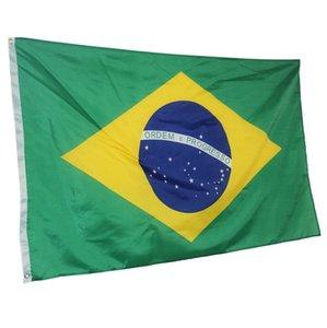 Brasil Flag 3x5FT 150x90cm poliéster impressão interior Hanging Outdoor Hot bandeira nacional de venda com latão Grommets frete grátis
