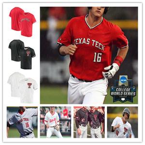 2020 College Texas Tech TTU Baseball Jersey BRIAN KLEIN Mathieu Joseph DYLAN NEUSE COLE STILWELL EASTON MURRELL Josh Jung DOBBINS 4XL Custom