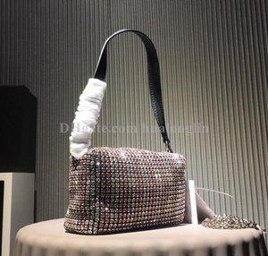 Сумка женщина марка дизайнера жемчуг горный хрусталь хрустальные бусины сумки кошелек плеча сумку моды