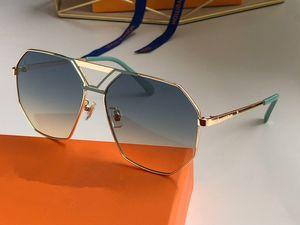 Z108 디자이너 보호 인쇄 렌즈 최고 품질의 안경 UV400 대형 금속 프레임 패션 분위기 태양 안경 선글라스