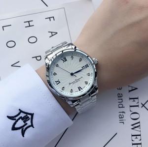 Nuovo Master Collection ovale diamanti genuini scala calendario automatico Mens Watch Acciaio Mens orologi di marca trasporto di goccia