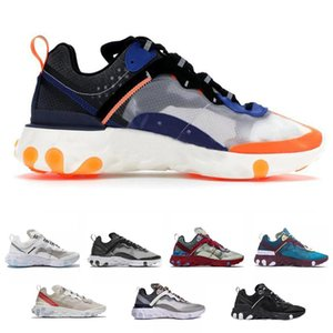 React Element 87 55 UNDERCOVER Women Mens Running Shoes Volt Racer Pink Royal Tint Thunder Orange Game Royal Blue Sports Sneakers free