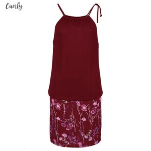 Hot Sale Fashion Womens Casual Sleeveless Print Beach Mini Dress Beach Dress Vestidos De Fiesta 25 Dropshipping