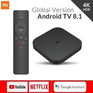 Xiaomi Mi caja de la TV S 4 Android 8.1 4K HD QuadCore inteligente Bluetooth 2 GB 8 GB HDMI inalámbricas establecidas Rectángulos Media Player
