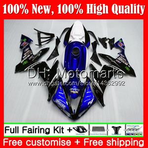 هيكل YAMAHA YZF R 1 YZF-1000 YZF 1000 YZFR1 04 05 06 97MT12 YZF1000 YZF R1 04 06 YZF-R1 2004 2005 2006 Black black Fairing Bodywork