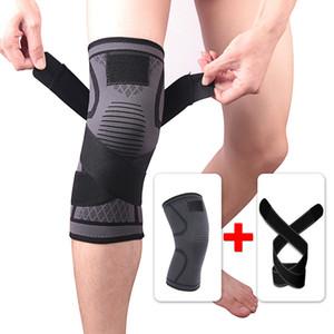 Kneepad bandagem elástica pressurizado respirável Knee Protector Suporte para a aptidão do esporte que funciona Arthritis Muscle Brace Joint mais novo Pad Knee