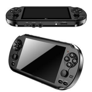 "32/64/128 bit 5"" X9 7"" LCD Plus de doble balancín 8G portátil retro del jugador del juego video de la consola MP5 la tarjeta del TF para GBA / NES 10000 juegos"