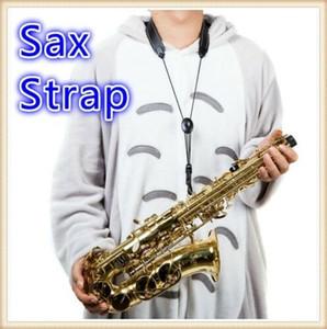 Cuero ajustable saxofón de nylon acolchado con correa para el cuello Cierre Corchete Practic vacaciones bricolaje Decoración