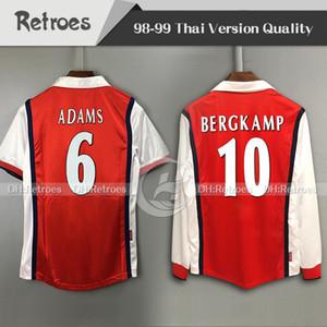 1998 10# Bergkamp ретро версия с длинным рукавом футбол Джерси 98-99 #8 Райт ретро футбол рубашка