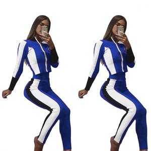 Giyim Setleri Casual Suit Kadınlar eşofman Sonbahar Sports 2adet Tops Pantolon Fall Pantalones