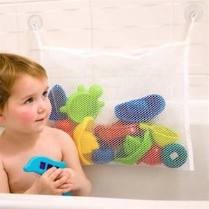 VIERUODIS el baño de los niños del bebé de la ducha del juguete bolsa de almacenamiento gratuito de perforación ventosa malla dormitorio escombros cocina bolsa de almacenamiento