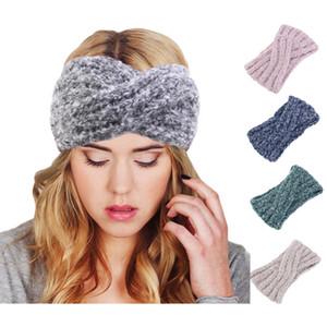 New Inverno Mulher super macia malha Headband macio Crochet torção Faixa de Cabelo Turbante Headwrap Hat Cap orelha acessórios para o cabelo mais quentes