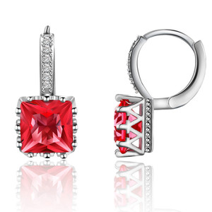 Korean edition fashion earrings square drilling small fresh Zircon Earrings multi-color simple Earrings mixed batch