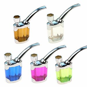 5 Colors Hot Dual Purpose Water Tobacco Pipe Cigarette Holder Liquid Smoking Filter Lighters & Smoking Accessories YD0353