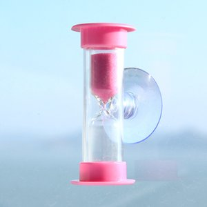 Hourglass 3 Minutes Clocks Timer Mini Hourglass For Brushing Kids Teeth Smiley Sand Timer Watch Clock Home Deco with Suction Cup