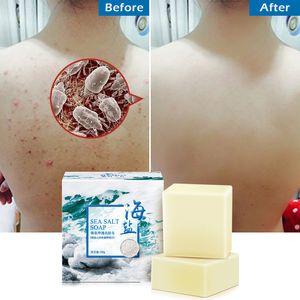 100g Sea Salt Soap Cleaner Removal Pimple Pores Goat Milk Moisturizing Face Care Wash Basis For Soap flower TSLM1