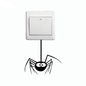 키즈 룸을위한 DSU Cartoon Spider 스위치 스티커 Funny Animal Vinyl Wall Decal