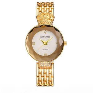 Europe and the United States new fashion retro rose gold crown ladies watch high-grade alloy quartz watch
