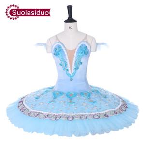 Nouvelle Arrivée Adulte Ciel Bleu Professionnel Ballet Tutu Costumes Le YAGP Performance Compétition Ballet Apperal Femmes Dancewear