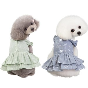 Pet Dog Girls Dresses Practical Note Patterns Pet Dog Cat Skirt Clothes Cute Puppy Princess Dress With Doll Collar Dog Clothes