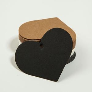 500pcs 5 * 6.5cm coeur prix de blanc étiquettes volantes paquet cadeau étiquettes volantes bricolage étiquettes de cartes vierges à la main