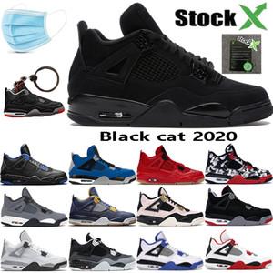 Kara Kedi 2020 4 4S erkek basketbol ayakkabıları kanatlar yangın kırmızı single encore ABD 7-13 gammaz eğitmen erkekleri Oreo gizli beyaz çimento yetiştirilen