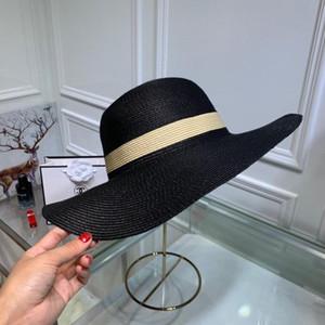 Moda clásica de alta calidad para mujer sombrero para el sol marca famosa diseñador de lienzo de las mujeres al aire libre viaje sol sombrero a juego caja