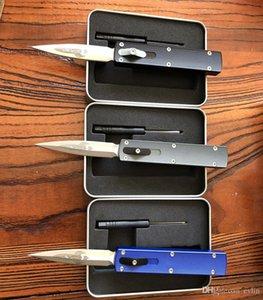 Üst Kalite D Roket Dizayn Oto Taktik Bıçak D2 Saten Çift Eylem Mızrak Noktası Blade T6061 Kol EDC Cep Bıçaklar Hediye Bıçak