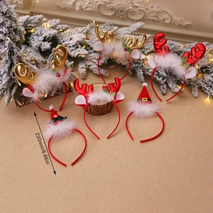 Christmas Decorations Props Fluffy Antlers Bells Headband Accessories Children'S Party Dressing Up Props