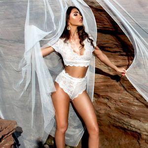 New 2020 Sexy Women Lace Lincerie Night Wear Babydoll g-string Underwear Set Sleepwear Pajama Sets