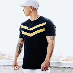 Neue Männer T-shirt Baumwolle kurzen Ärmeln schwarz Unterhemd Männlichen Festen Streifen Herren Sommer Marke Kleidung Homme camiseta masculina Kleidung