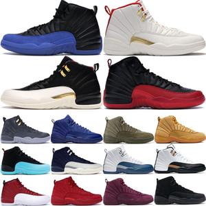 2020 yeni Fiba Siyah Oyun Kraliyet 12 12s erkekler basketbol ayakkabıları CNY gribi oyunu playoff koyu gri erkek stilist eğitmen spor ayakkabısı