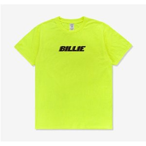 Billie Eilish T shirt yellow neon green black letter Streetwear Same Paragraph Cotton Summer New High Quality