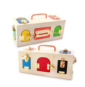 Montessori Wooden Early Education Puzzle Baby Early Unlock Toys Kindergarten Inteligencia Herramienta de enseñanza