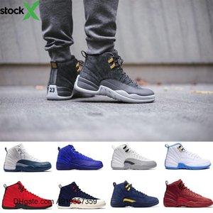 CALIENTE Hombres Mujeres Zapatos de baloncesto 12 Gamma Azul Colorway 12s Gris oscuro Negro metálico de plata d Burdeos zapatillas de deporte de cereza Bulls para el invierno