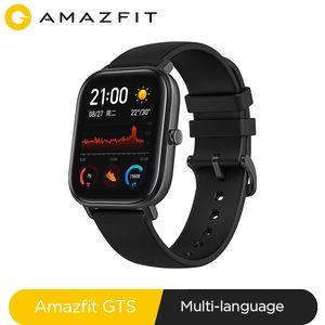 Versión global NUEVO Amazfit GTS reloj elegante impermeable 5 ATM Piscina 14Days Music Control de batería para Xiaomi IOS Teléfono