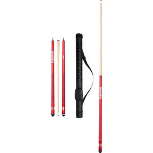 clone gros- bois rouge queues de billard bâton centre cue commun professionnel 1/2 bâtons de queue de billard avec Jointed sac cue