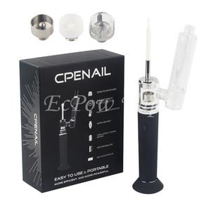 CPENAIL Vape Starter Kit Портативный Воск Испаритель Dab Rig Ногтей Керамический Кварцевый Электрический H Ногтей GR2 Ti 3 типа катушки ecigs Vapor Стеклянные бонги