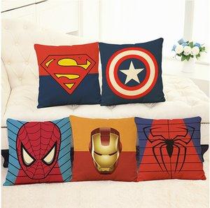 Avengers Yastık Kılıfı Karikatür Yastık Kılıfı Superman Batman Wade Baskılı Minder Kapak Pamuk Keten Yastık Kapak Ev Tekstili Xmas Hediye